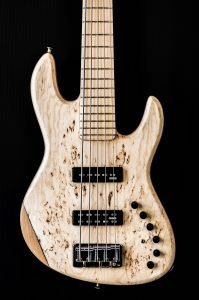 Polaris deluxe 5 strings ash burl top