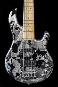 "Supertone 5 strings ""Silver rain"" finish"